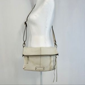 Lucky Brand Del Rey Leather Vanilla Crossbody Bag